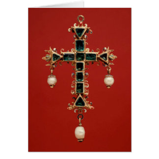 Cross Pendant with Emeralds Card