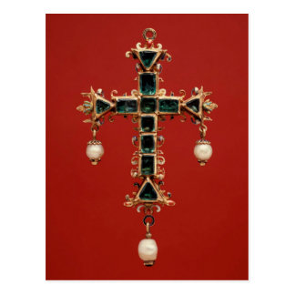 Cross Pendant with Emeralds Postcard