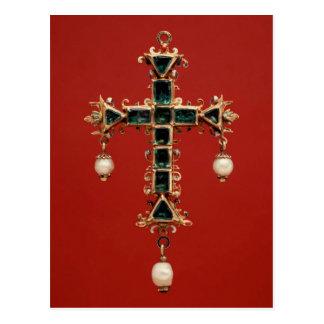 Cross Pendant with Emeralds Postcard