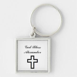 """""""Cross"""" Personalized Keychain"""
