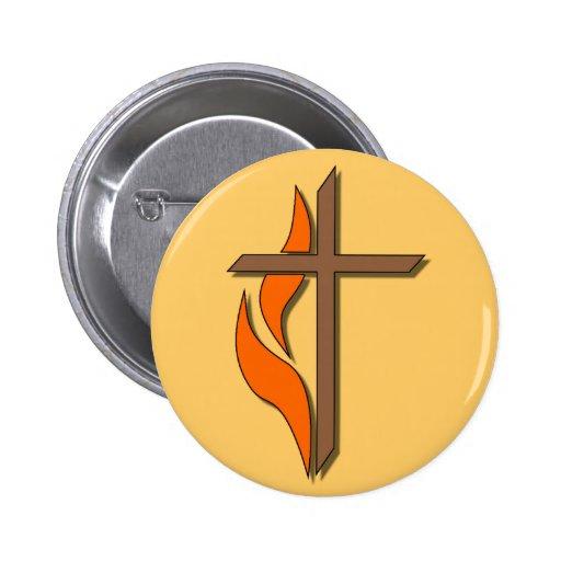 Cross Pinback Buttons