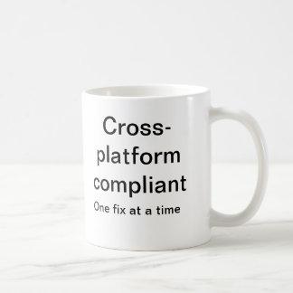 Cross platform compliant coffee mug