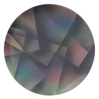Cross pollinating paper melamine plate