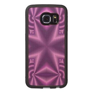 Cross Purple Wood Phone Case