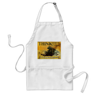 Cross Railroad Crossings Cautiously Adult Apron