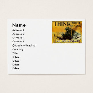 Cross Railroad Crossings Cautiously Business Cards