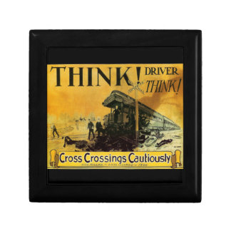 Cross Railroad Crossings Cautiously Gift Box