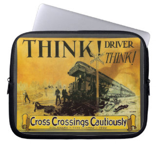 Cross Railroad Crossings Cautiously Laptop Computer Sleeves