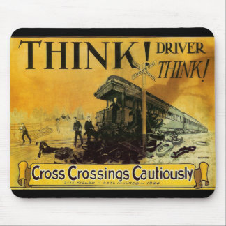 Cross Railroad Crossings Cautiously Mousepads
