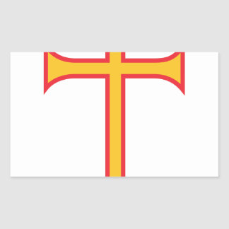 Cross Rectangular Sticker