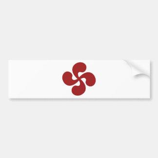 Cross Red Basque Lauburu Bumper Sticker