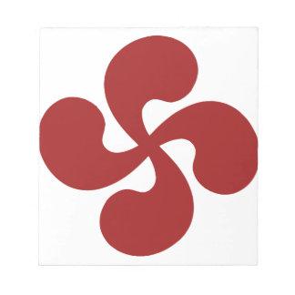 Cross Red Basque Lauburu Scratch Pads