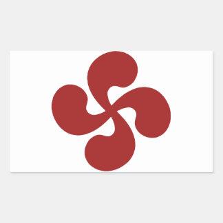 Cross Red Basque Lauburu Rectangular Sticker