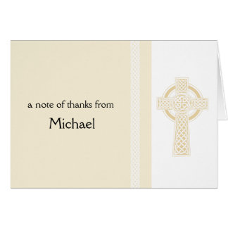 Cross Religious Thank You Greeting Card