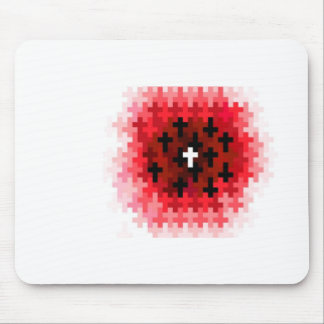 Cross Ripple Red Mouse Pad