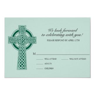 Cross RVSP Card