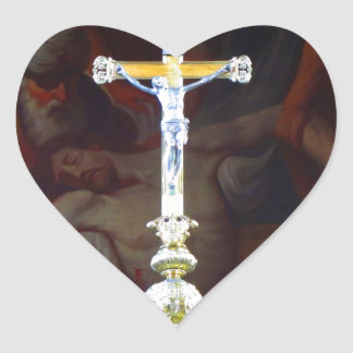 Cross saint michel church cathedral religion faith heart sticker