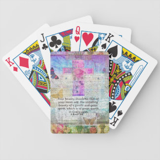 Cross, Scripture Art, Bible Verse Art Faith Based Bicycle Playing Cards