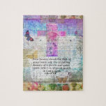 """Cross, Scripture Art, Bible Verse Art Faith Based Jigsaw Puzzle<br><div class=""""desc"""">&quot;Your beauty should be that of your inner self,  the unfading beauty of a gentle and quiet spirit,  which is of great worth in God's sight."""" - 1 Peter 3:4</div>"""