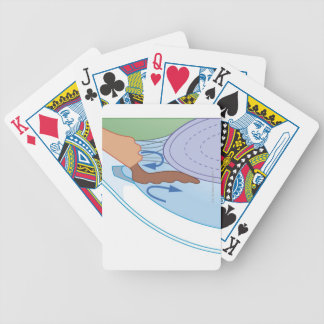 Cross section biomedical illustration of fluid bicycle playing cards