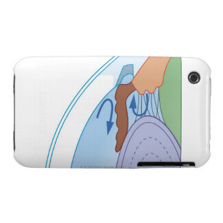 Cross section biomedical illustration of fluid iPhone 3 case