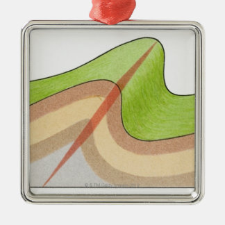 Cross-section illustration of a fold in the rock christmas tree ornaments