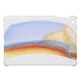 Cross section illustration of formation of iPad mini covers
