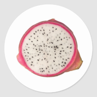 Cross section of a dragonfruit classic round sticker