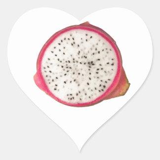 Cross section of a dragonfruit heart sticker