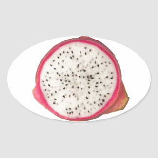 Cross section of a dragonfruit oval sticker