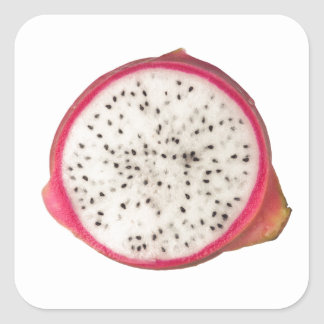 Cross section of a dragonfruit square sticker