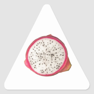 Cross section of a dragonfruit triangle sticker