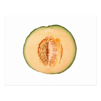 Cross section of a rockmelon post card
