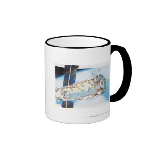 Cross section of solar powered space station mug