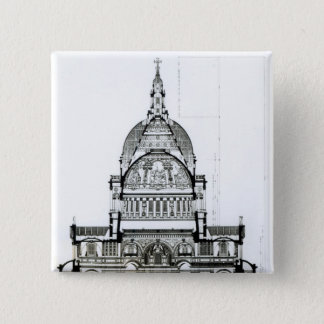 Cross section of St. Paul's Cathedral Button