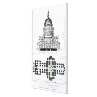 Cross section of St. Paul's Cathedral Canvas Print