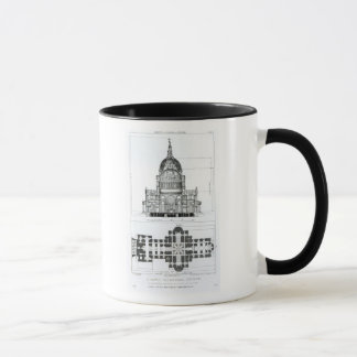 Cross section of St. Paul's Cathedral Mug