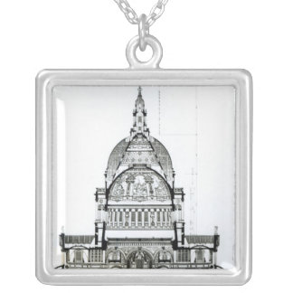 Cross section of St. Paul's Cathedral Silver Plated Necklace