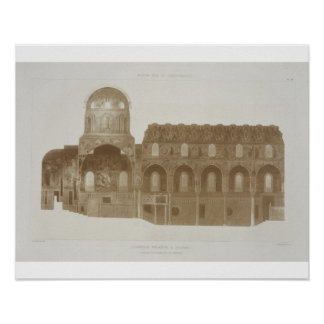 Cross-Section of the Palatine Chapel, Palermo, Sic Poster