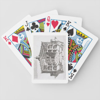 Cross-section of Villa Caprarola, Bagnaia (engravi Bicycle Playing Cards