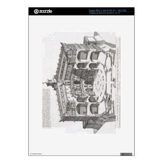 Cross-section of Villa Caprarola, Bagnaia (engravi iPad 3 Decal