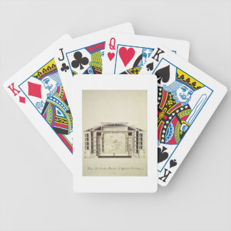 Cross section view of a theatre on the Grand Canal Bicycle Playing Cards
