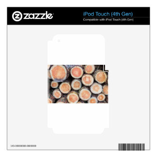 -Cross sections of pine trunks iPod Touch 4G Skin