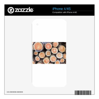 -Cross sections of pine trunks Skin For The iPhone 4S