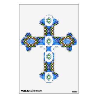Cross Shape V Wall Sticker