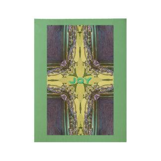 Cross Shaped Abstract 'Joy' Wood Poster