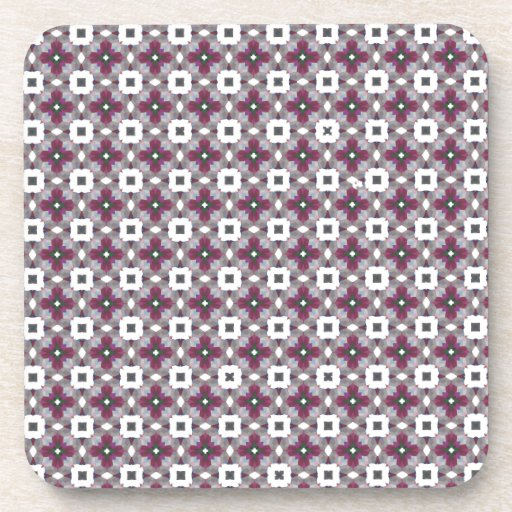 Cross Shaped On White Background Luxurious Pattern Coasters
