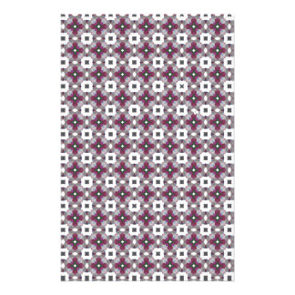 Cross Shaped On White Background Luxurious Pattern Stationery Paper