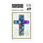 Cross - Size Medium Postage Stamp
