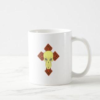 Cross skull head CROSS skull Coffee Mugs